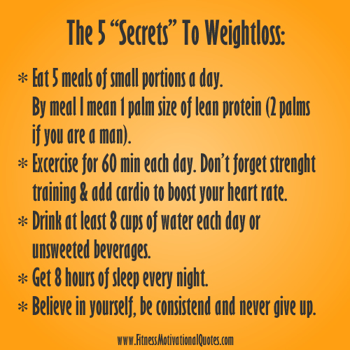 Motivational Quote Weight Loss: My 5 Weight-Loss Secrets