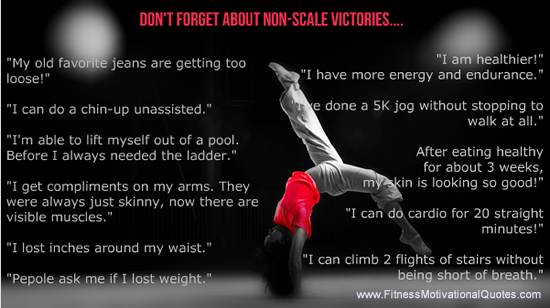 Celebrate Non-Scale Victories