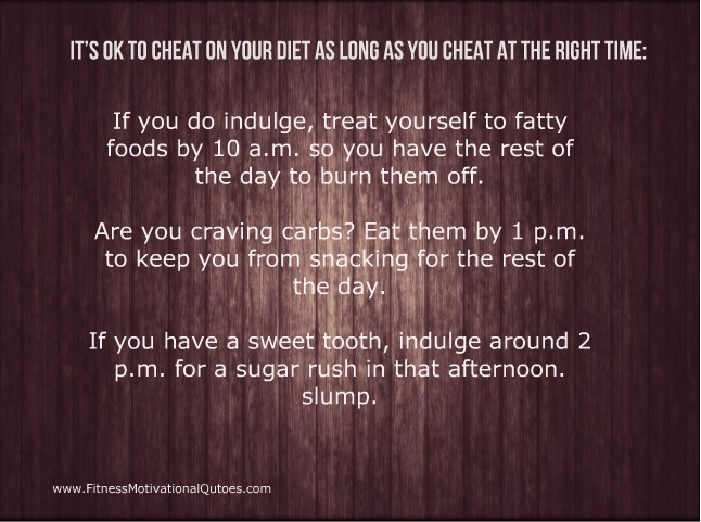 The Best Time to Cheat on a Diet