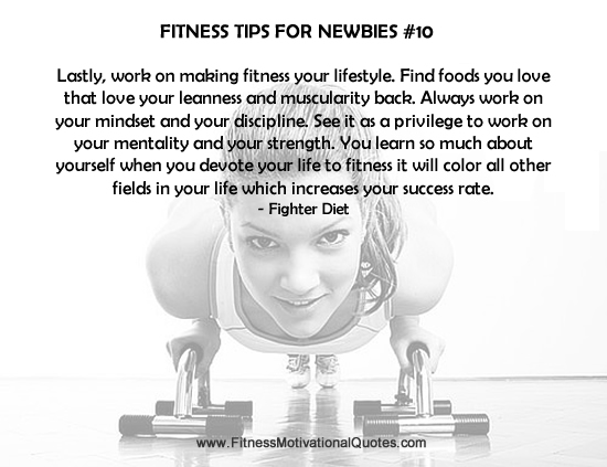 Fitness Tips For Newbies #10