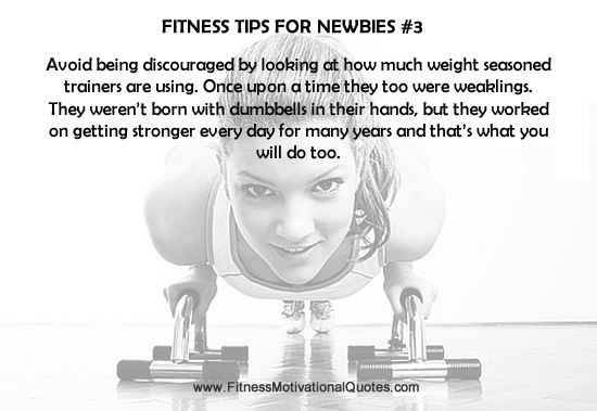 Fitness Tips For Newbies #3