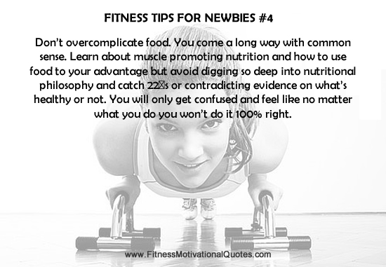 Fitness Tips For Newbies #4