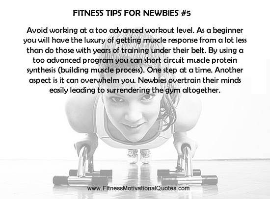 Fitness Tips For Newbies #5