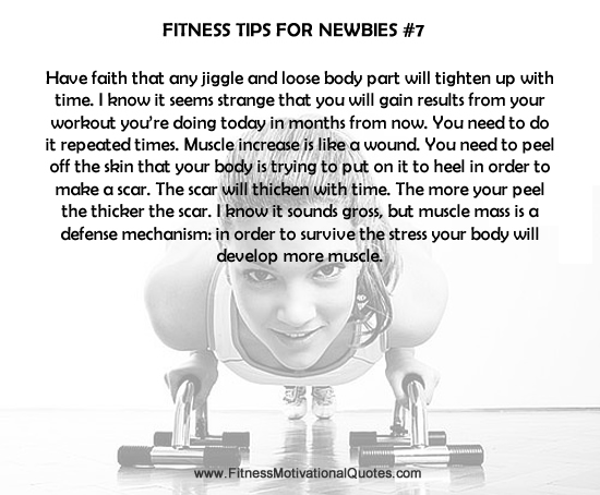 Fitness Tips For Newbies #7