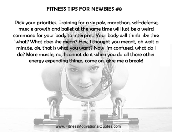 Fitness Tips For Newbies #8