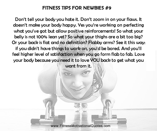 Fitness Tips For Newbies #9