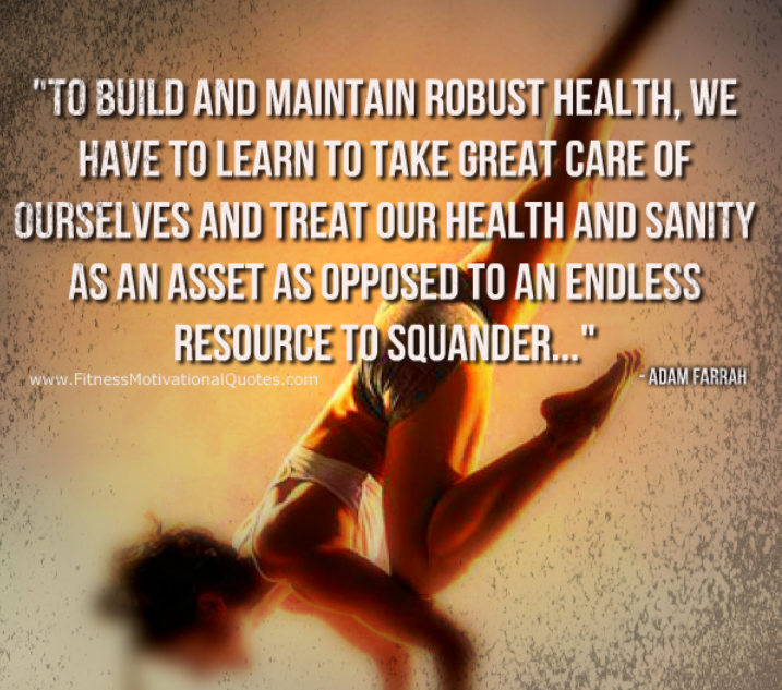 Treat Your Health As An Asset