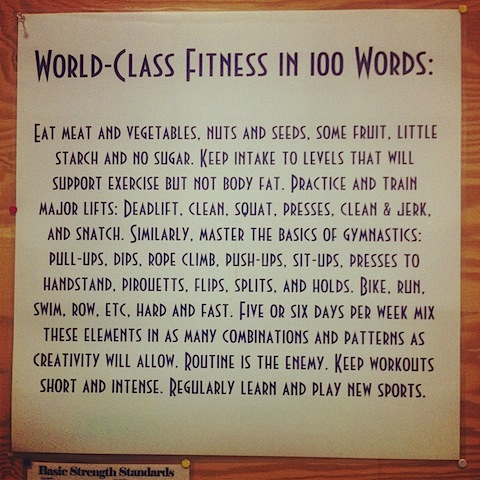 World-Class Fitness In 100 Words