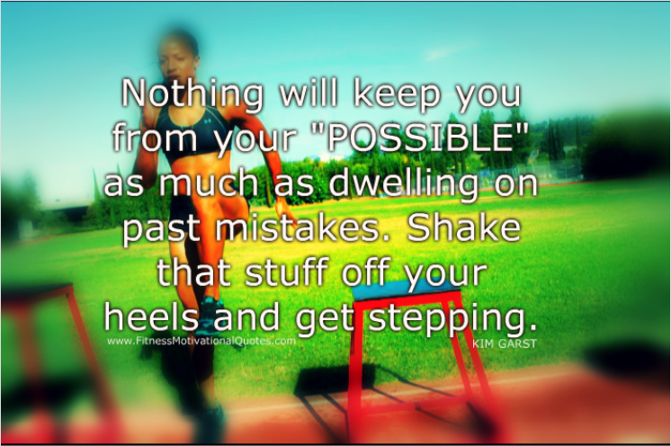 Shake That Stuff Off And Keep Stepping