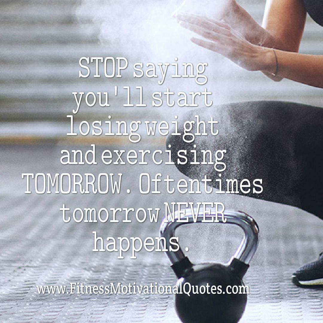 Start Exercising Today