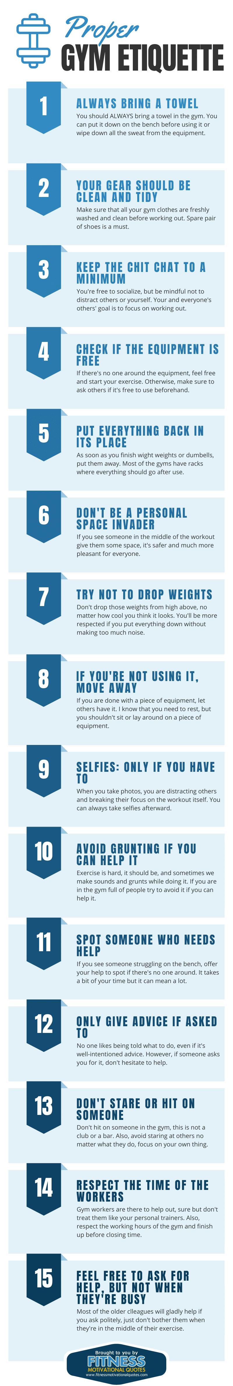 Proper gym etiquette